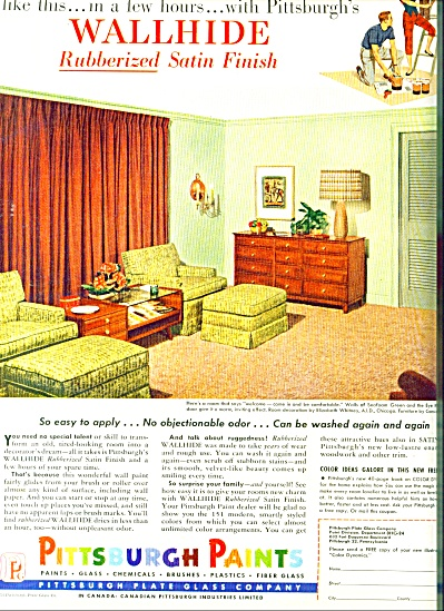Pittsburgh Paints ad - 1954 (Image1)