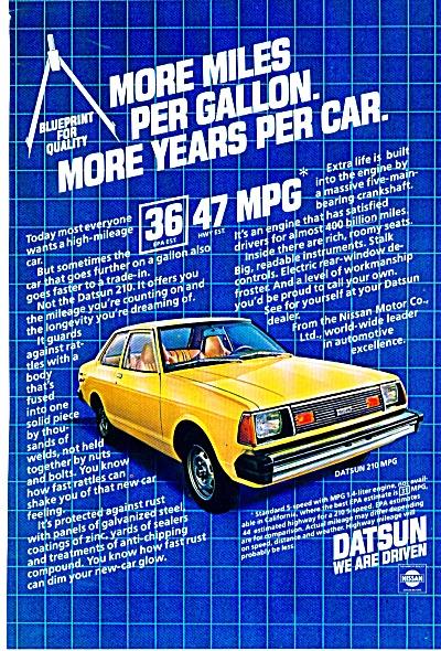 Datsun automobile ad (Image1)