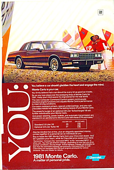 Monte Carlo Chevrolet for 1981 ad (Image1)
