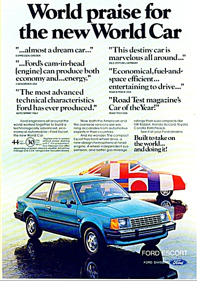 Ford Escort Automobile Ad