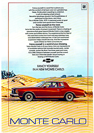 Monte Carlo  Chevrolet  ad for 1979 (Image1)