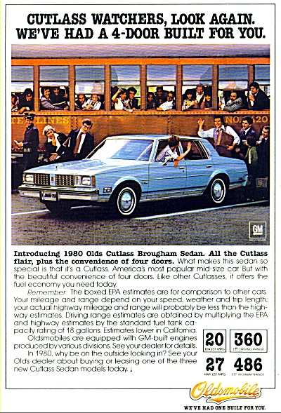 Oldsmobile  for 1980 ad (Image1)
