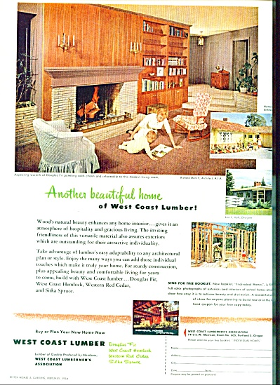 West Coast Lumber Ad 1954