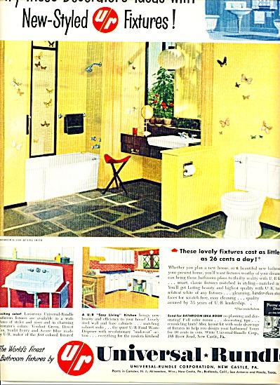 Universal Rundle Corporation ad -  1954 (Image1)