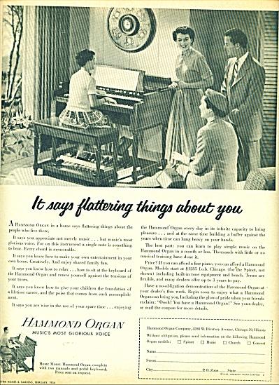 Hammond Organ ad    1954 (Image1)