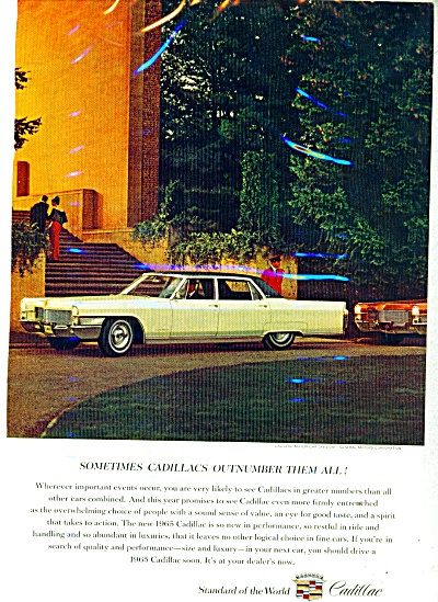 1965 Cadillac Motor CAR AD Chauffer Driven (Image1)