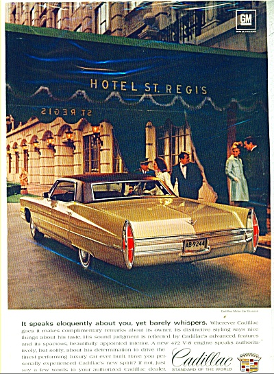 1968 Cadillac motor car ad  for 1968 (Image1)