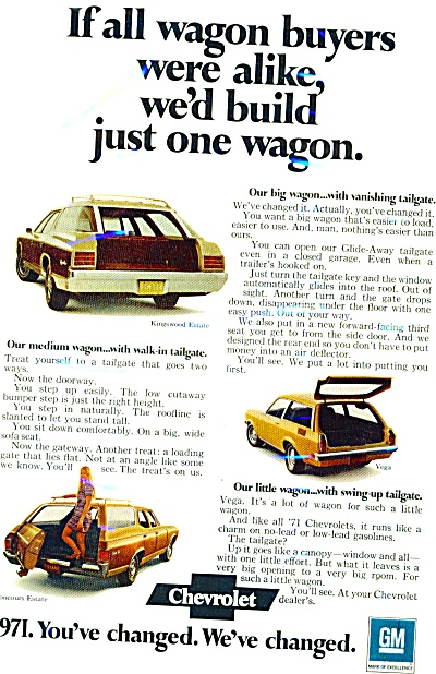 Chevrolet Automotible For 1971 Ad