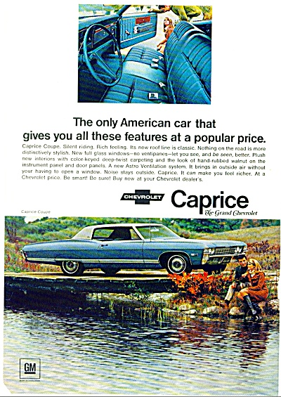 Chevrolet Caprice for 1968 ad (Image1)