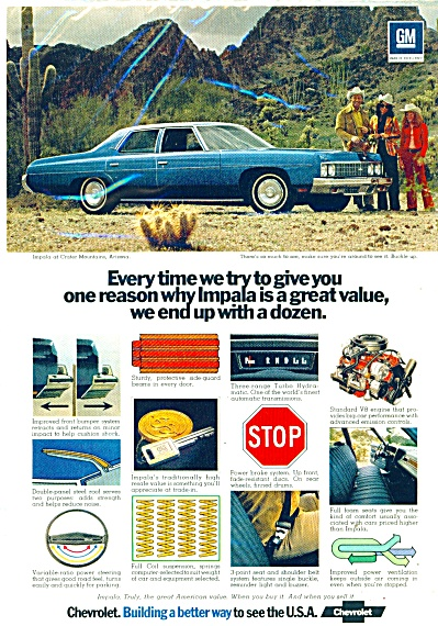 Chevrolet Impala automobile ad  1973 (Image1)