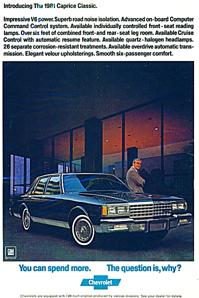 1981 Caprice Classic Chevrolet ad (Image1)