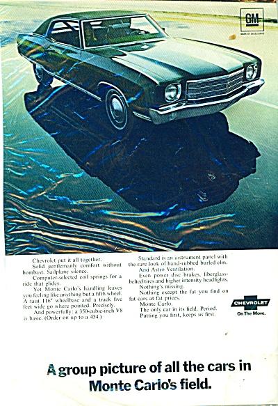 Chevrolet Monte Carlo automobile  ad 1969 (Image1)