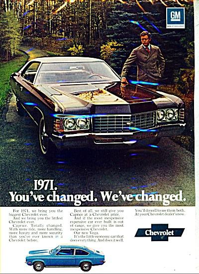 Chevrolet Vega automobile  ad  1971 (Image1)