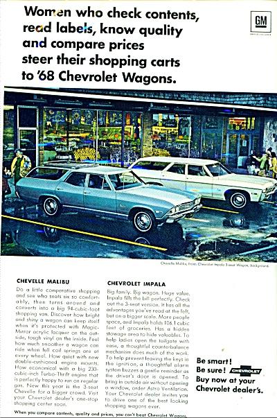 Chevelle Malibu & Chevrolet Impala 1968 ad (Image1)