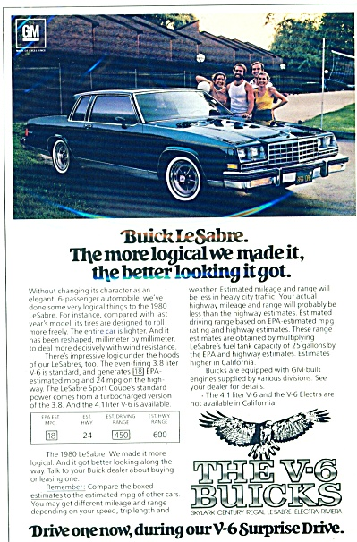 The Buick LeSabre automobile ad  - 1980 (Image1)