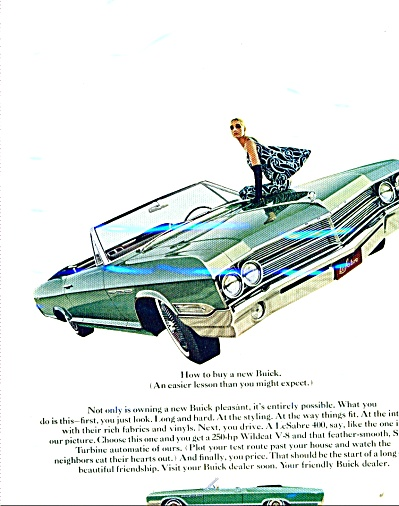 Buick Automobile Ad 1965