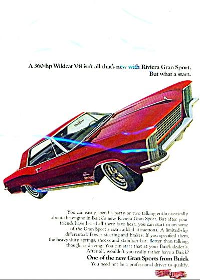 Buick Riviera Gran sport  ad - 1965 (Image1)