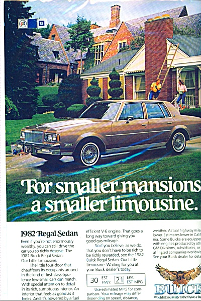 Buick Regal Sedan for 1982 ad (Image1)