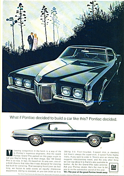Pontiac Grand Prix automobile ad for 1969 (Image1)