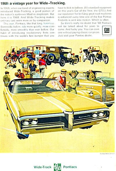 1968 Pontiac  CAR AD VAN KAUFMAN ART (Image1)