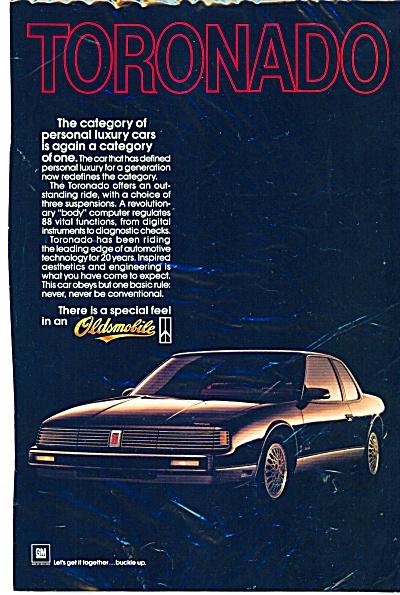 Oldsmobile Toronado  for 1986 ad (Image1)