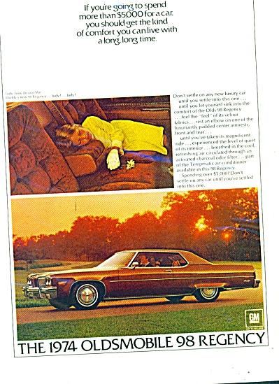 The 1974 Oldsmobile 98 regency ad (Image1)