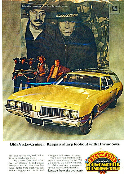 Oldsmobile Vista-cruiser Ad. 1969