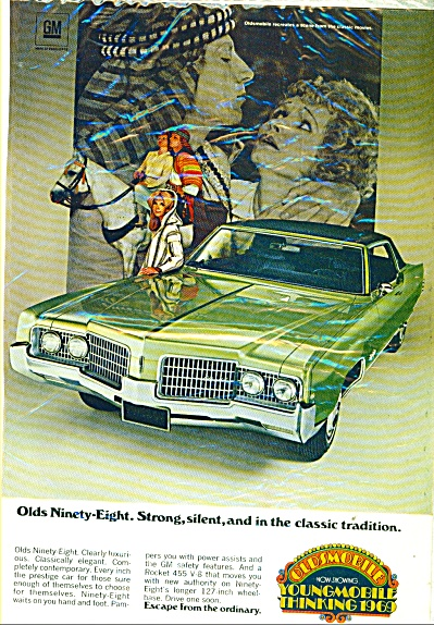 Oldsmobile Ninety-eight Ad For 1969