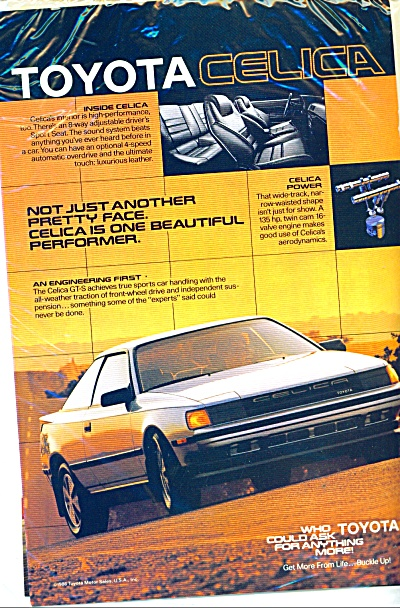 1986 TOYOTA CELICA GT-S CAR AD (Image1)