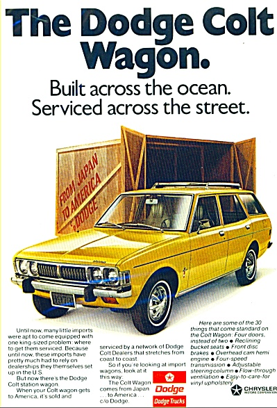 The Dodge Colt Wagon ad  1973 (Image1)