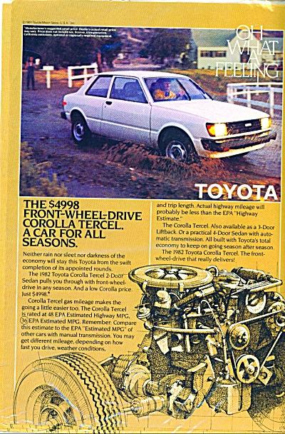 1982 TOYOTA COROLLA TERCEL CAR AD (Image1)