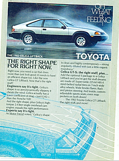 The 1982 Celica liftback from Toyota ad (Image1)