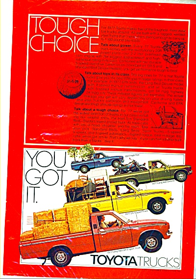 1977 Toyota FOUR MODELS TRUCK AD (Image1)