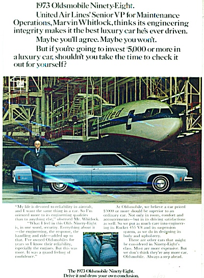 Oldsmobile ninety-eight ad   1973 (Image1)