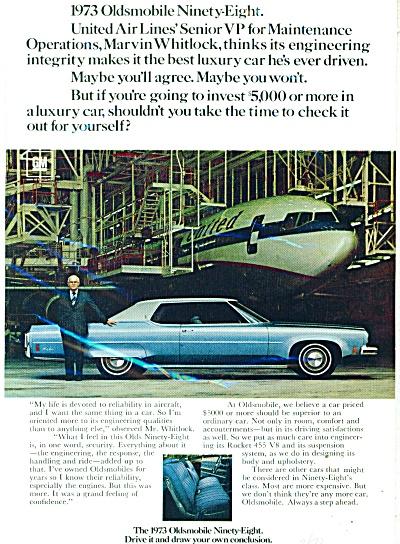 Oldsmobile ninety-eight ad   1973 (Image1)