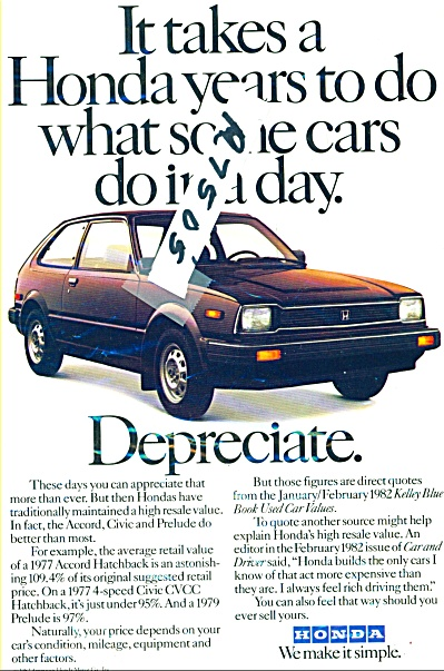 Honda Civic, Accord and Prelude autos ad 1982 (Image1)