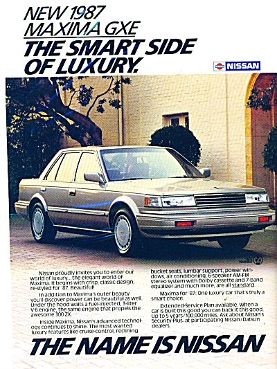 Nissan Maxima GXE  for 1987 ad (Image1)