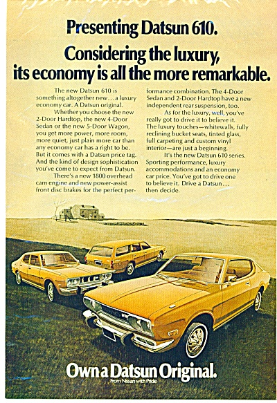 Datsun   610 automobile  ad for 1973 (Image1)