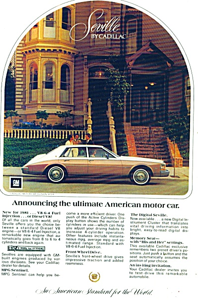 Cadillac Seville ad   for 1981 (Image1)