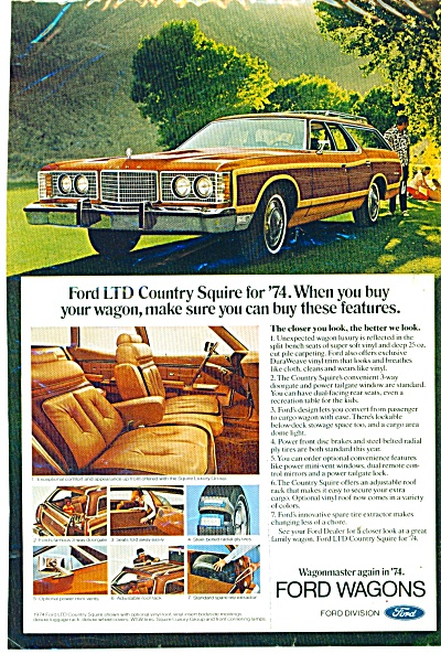 Ford LTD country Squire for 1974 ad (Image1)