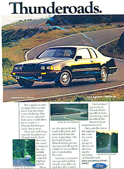 Ford motor car ad  -  Dated 1985 (Image1)
