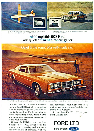 1973 Ford LTD ad Brougham CAR AD for 1973 (Image1)