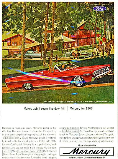 Mercury Automobile For 1966 Ad Southern Pines Nc