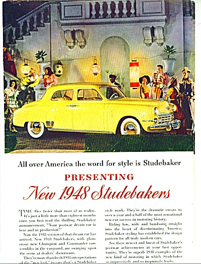 Studebaker for 1948 ad (Image1)