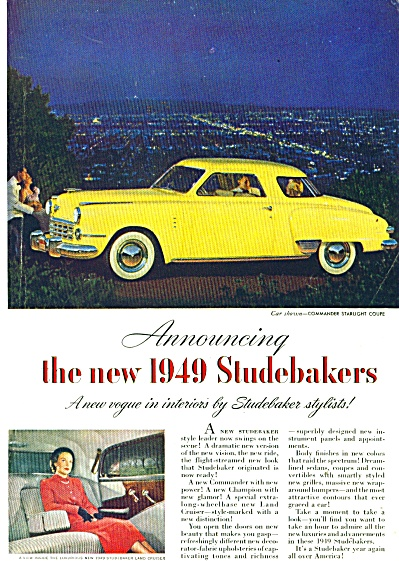 Studebaker automobile for 1949 ad COMMANDER STARLIGHT (Image1)