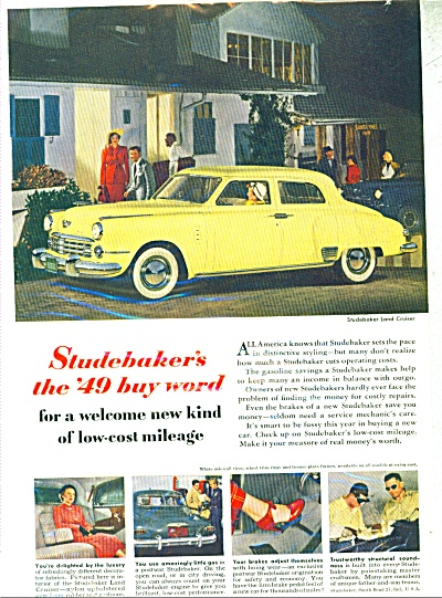 Studebaker  automobile for 1949 ad (Image1)