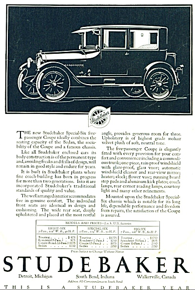 1923 AD Studebaker CAR Automobile Passenger Coupe (Image1)