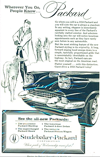 1958 Studebaker PACKARD Supercharged CAR AD (Image1)