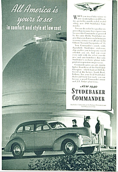 Studebaker Commander for 1940 ad (Image1)