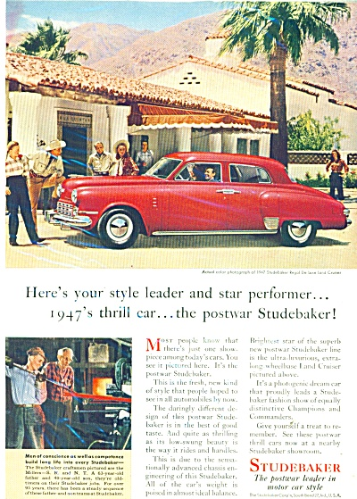 Studebaker automobile for 1947 ad (Image1)